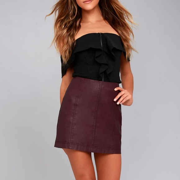 1880cc5f01 Free People Dresses   Skirts - free people  modern femme  faux leather mini